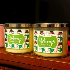 2 Merry Cookie candles